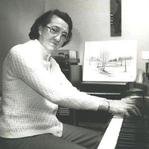 Odette pianiste